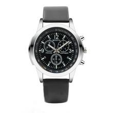 Trzy zegarki kwarcowe zegarki na rękę oko zegarki kwarcowe męskie zegarki niebieskie szkło pas zegarki mężczyźni darmowa wysyłka prezenty reloj mujer tanie tanio ISHOWTIENDA 24cm simple QUARTZ NONE bez wodoodporności Sprzączka CN (pochodzenie) STOP bez opakowania Skórzane 40mm Watch