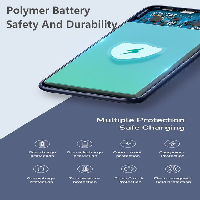 Baseus 10000mAh Qi Wireless Charger Power Bank Quick Charge 3.0 PD Powerbank For iPhone Xiaomi 10000 Portable External Battery 4