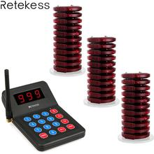 Retekess T119 Wireless Calling System Restaurant Pager 30 Coaster Pager+1 Transmitter Call Equipment F3357