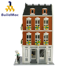 BuildMOC City Streetview Series Bridal Shop City Street View Model Building Kits Blocks Bricks Kids Toys Gifts Christmas gift city series pet flower shop guildhall city hall cinema bank bricks action building blocks children gift toys decool 1105 1109