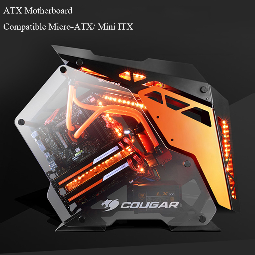 Customized DIY Desktop Open Case ATX Motherboard Compatible M-ATX Mini ITX Side Open Style USB3.0 Gaming Computer Cases 1