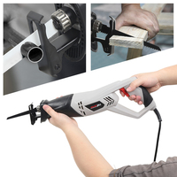 1000W Electric Reciprocating Saw Multifunction Saber Hand Saw with Rotating Handle for Wood and Metal Cutting with 2 Blades