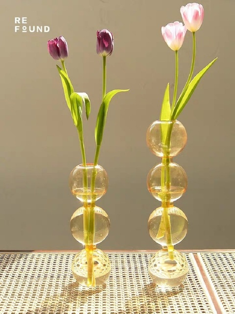 INS Crystal ball bubble Glass Vase Flower arrangement hydroponics ball glass art flower ware Home Decor 6