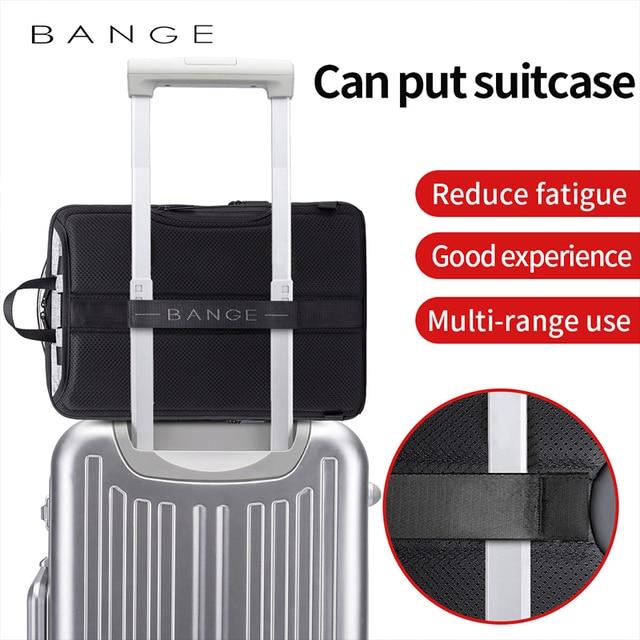 Bange Anti Theft Men Business 15.6 inch Laptop Backpacks Waterproof  External USB Charge Backpack School Fashion Travel Rucksack 5