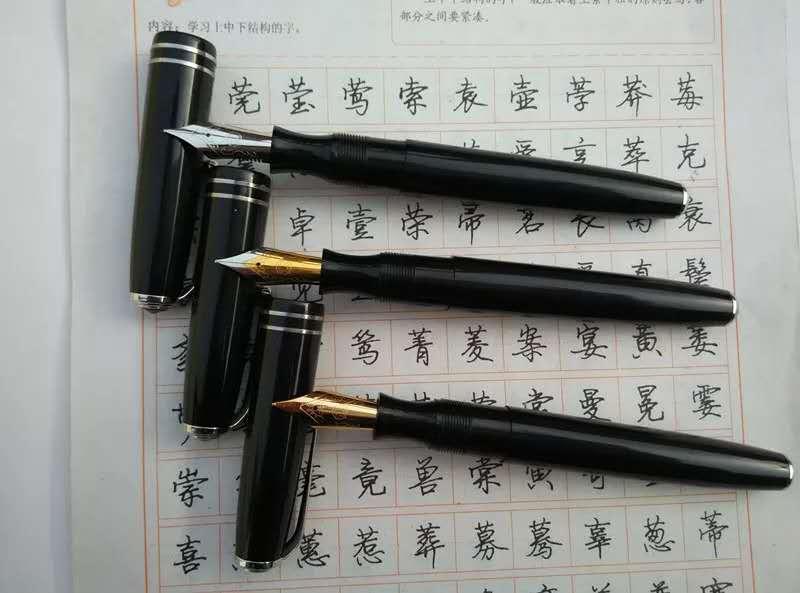 Original Golden Star Venus 28 Fountain Pen Ink Pen M Nib Stationery Office School Supplies Penna Stilografica
