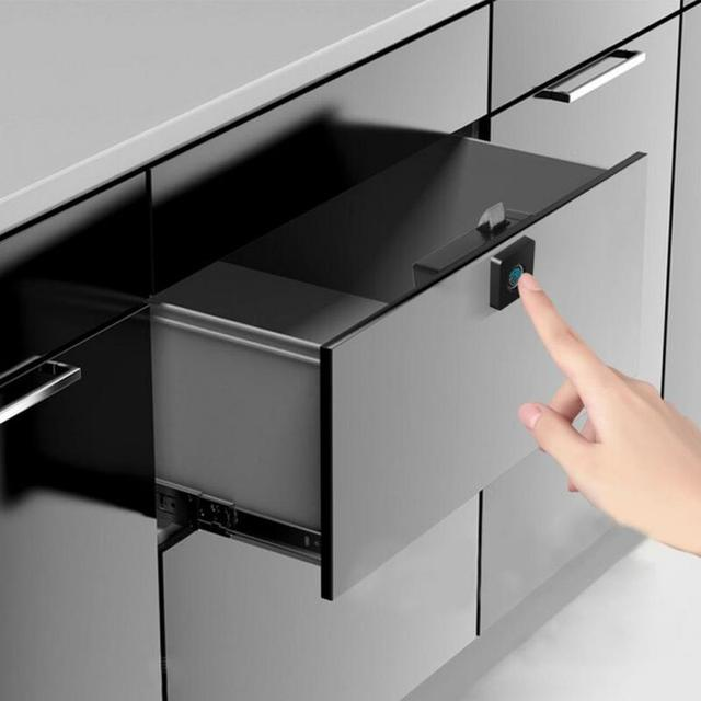الأثاث قفل ببصمة الأصبع المنزل ABS درج الذكية مكافحة سرقة مكتب بدون مفتاح خزانة إلكترونية صغيرة الأمن الذكي
