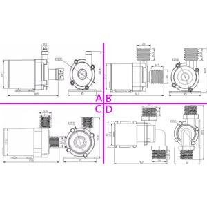 Image 5 - 도매 12 v 브러시 dc 워터 펌프 800l/h 1000l/h 침묵 24 v 전기 온수기 순환 부스터 펌프