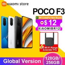 Poco f3 5g smartphone 6gb 128gb versão global snapdragon 870 octa núcleo 6.67