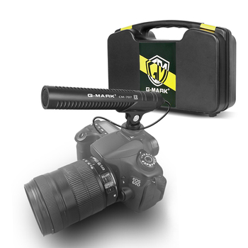 G-MARK CM707 camera microphone DSLR Shot gun Smartphone streaming microphone for Canon Sony Nikon Camcorder Phone PC