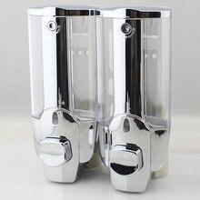350ml 700ml Liquid Foam/Double Soap Dispenser Fashionable Wall Mount Soap Sanitizer Bathroom Washroom Shower Shampoo Dispenser
