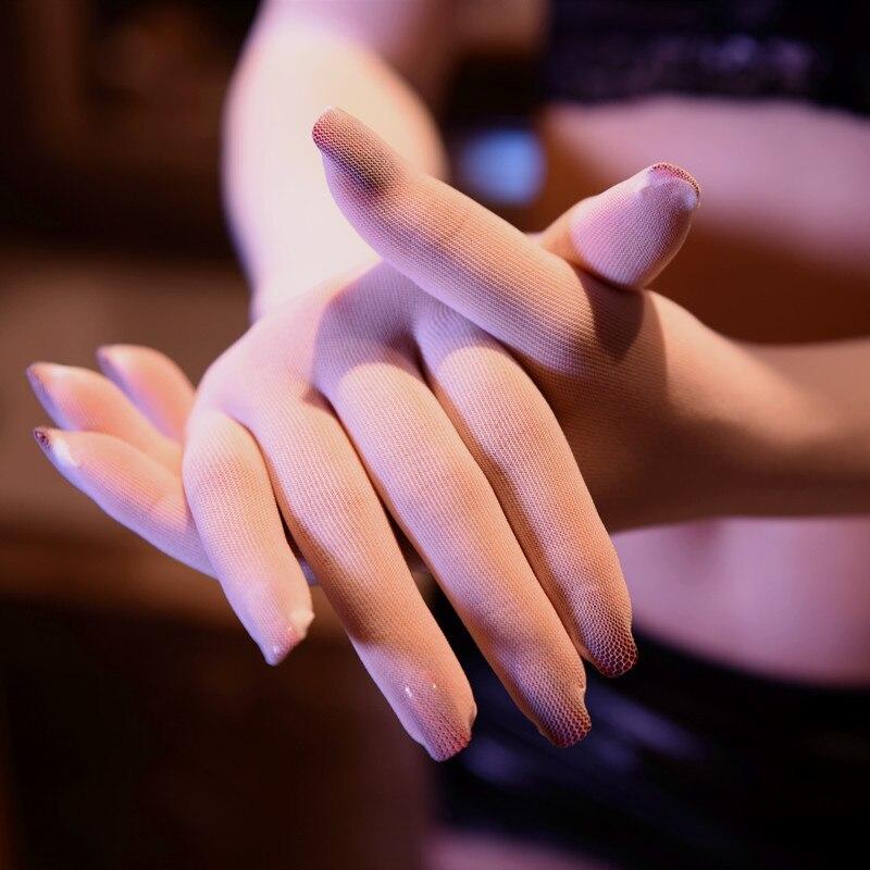 Womans Sexy Velvet long Gloves Smooth Seamless Prevent Snagged Fingers Gloves Super Thin Silk Gloves vrouw fluwelen handschoenen