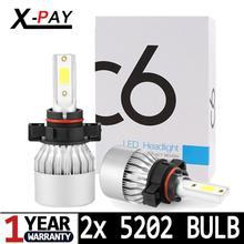 цена на 5202 H16(EU) Super Bright All In One LED Headlight Bulbs Conversion Kit 6000K 8000LM COB Car Lights Lamp Waterproof Fog Light