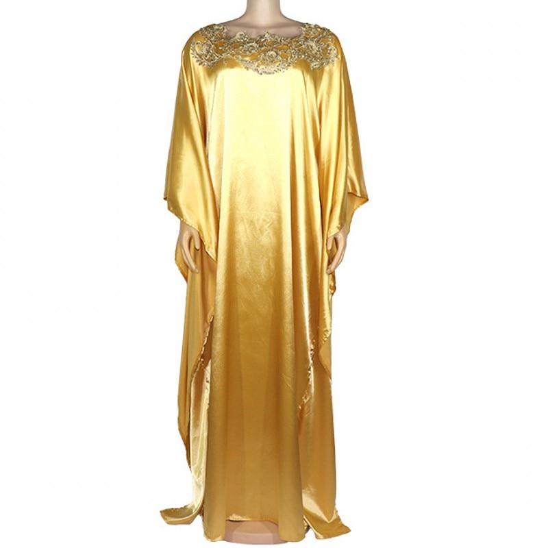 Plus Size Long Maxi Dress African Dress For Women 2020 Dashiki Fashion Golden Free Size Maxi Dress Long Robe Africaine Vetsidos