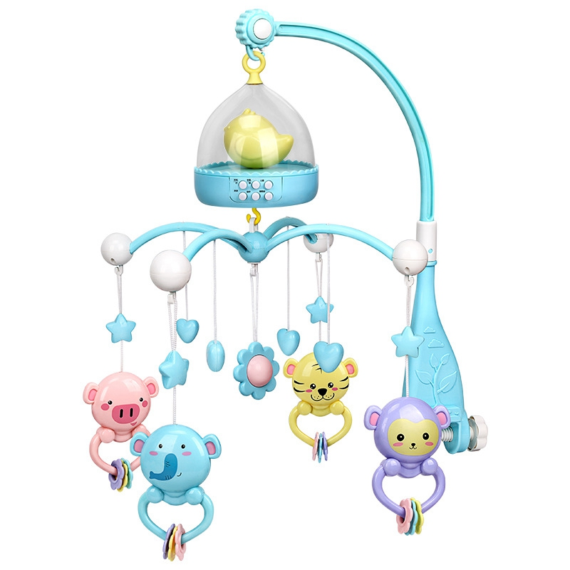 Baby Rattles Crib Mobiles Toy Holder Rotating Mobile Bed Bell Musical Box Projection 0-12 Months Newborn Infant Baby Boy Toys Bl