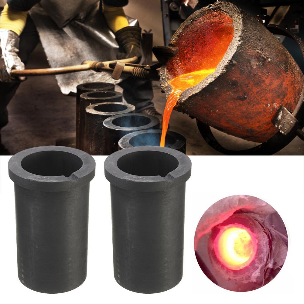 KKmoon de alta pureza de fusi/ón Crisol de grafito para dorado y plateado Metal de fundici/ón herramientas de alta temperatura