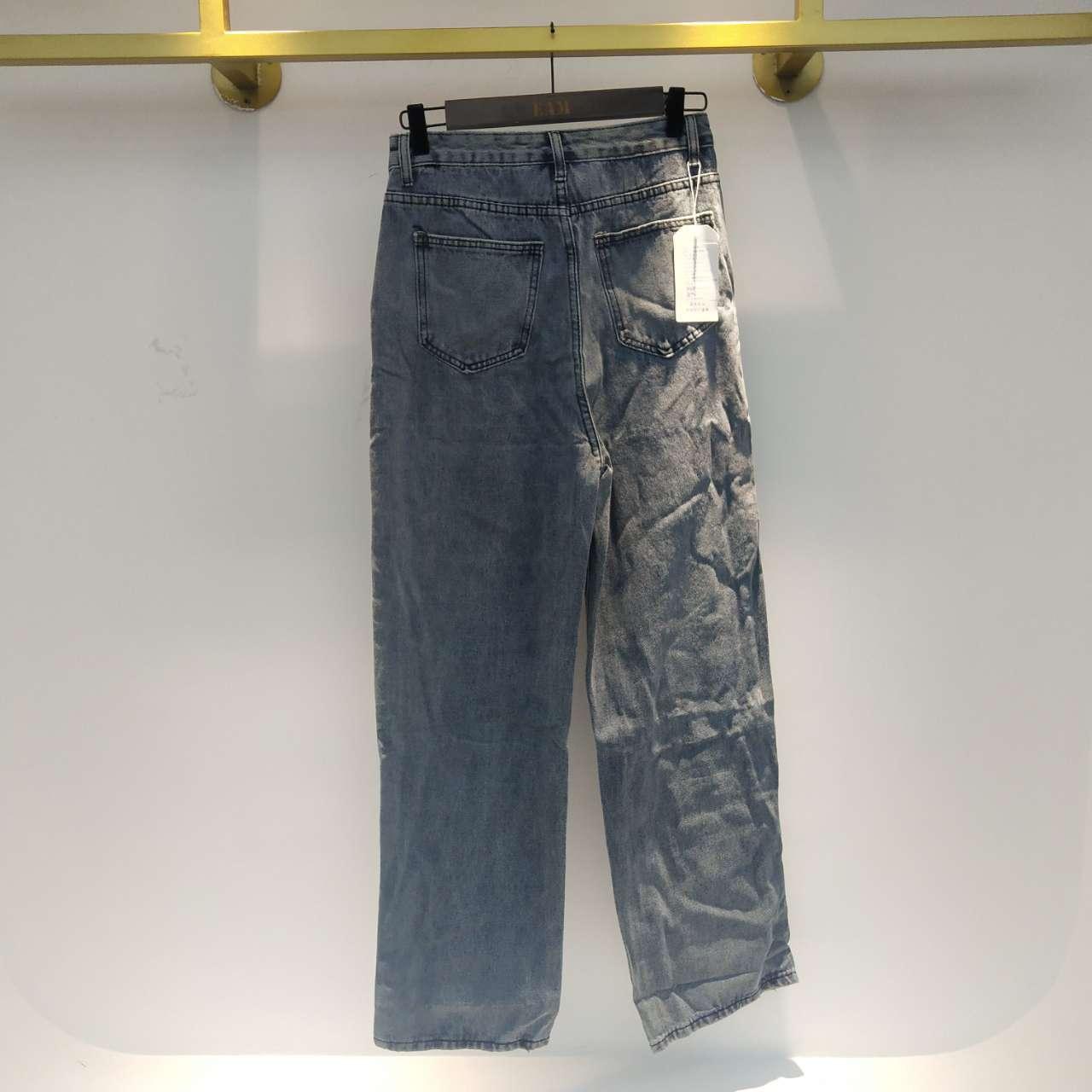 SHENGPALAE 2021 New Summer Vintage Jeans Woman Long Trousers Cowboy Female Loose Streetwear Butterfly Print Pants ZA4110 6