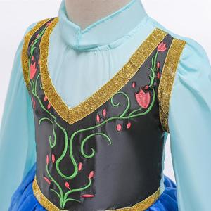 Image 4 - Queen Frozen 2 Elsa anan Dresses Childrens Christmas Birthday Set Clothes Girls Dress Birthday Party Cosplay Princess Dresses