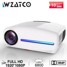 Wzatco c2 1920*1080p hd completo led projetor com 4d digital keystone 6800lumens de teatro em casa portátil hdmi beamer led proyector