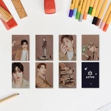 Eun Woo Photo-Card BLUE Kpop Astro Sixth-Album FLAME 7pcs/Set Bin Members Double-Sided-Card