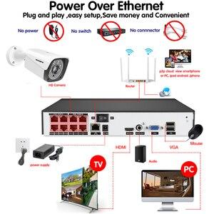 Image 5 - Yeni 2020 yüz kayıt H.265 + 8CH POE NVR kiti 5MP POE açık kamera güvenlik kamerası sistemi ev güvenlik Video gözetleme seti
