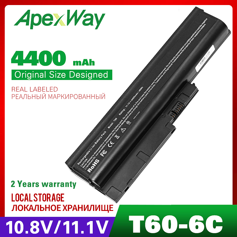 11.1V Laptop Battery FOR LENOVO ThinkPad T61 T61P R61 Series T500 R500 For IBM Thinkpad T60 T60p R60 R60e Z60m Z61e Z61p Series