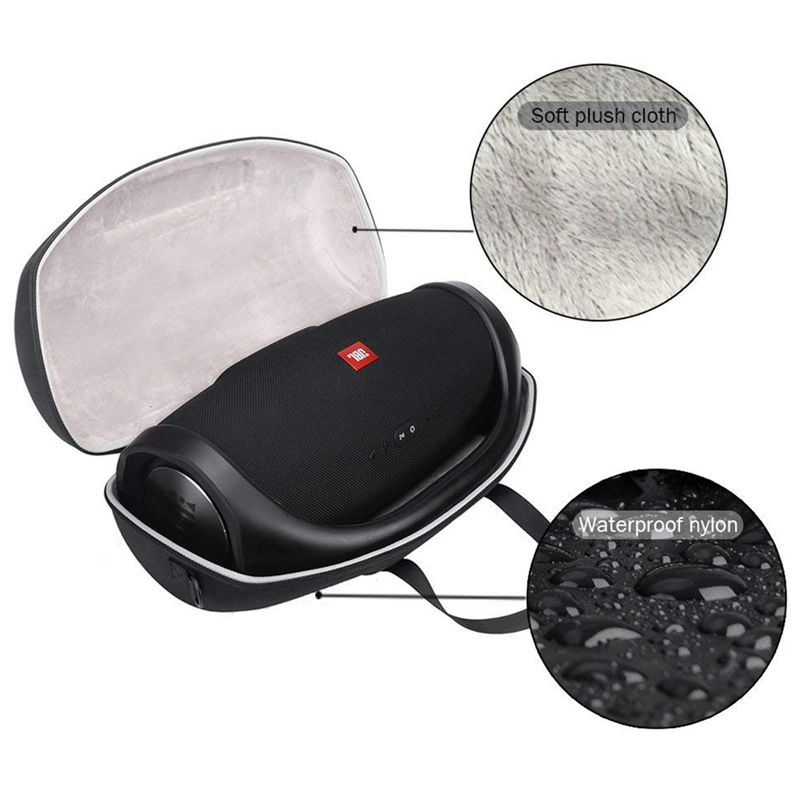 For JBL Boombox Portable Bluetooth Waterproof Speaker Hard Case Carry Bag Protective Box (Black)