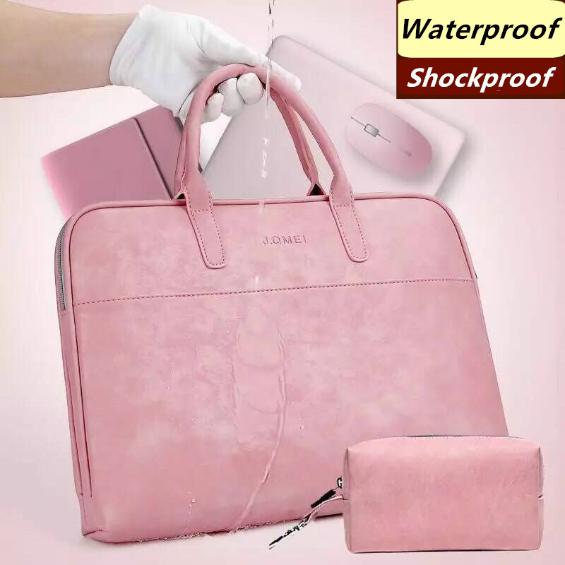 """Beautiful Simple Fashion Women Handbag 15 inches 15.6"""" Laptop Computer Bag Leather Business Briefcase"""