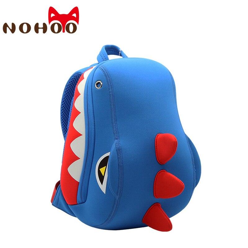 NOHOO Toddler Kids Dinosaur Backpack For Boys Girl Pre School Backpack 3D Cartoon Animal Kindergarten Kids School Bags 2-5 Years