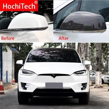 For Tesla Model x 100D 75D 90D p90D 2016 2017 2018 Carbon Fiber Side Mirror Case Rearview Mirror Cover