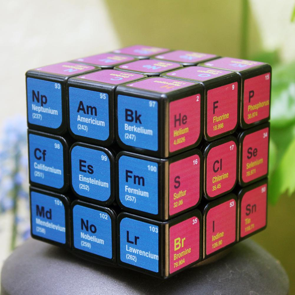 ABS Engineering Green Plastic Cube Chemical Element Periodic Table 3rd-order Cube Learning Formula