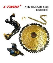LTWOO Groupset AT12 מהירות שיפטר מנוף אחורי הילוכים קלטת 11 50T 52T, 12 S YBN 18A שרשרת, נשר GX / M9100, זהב