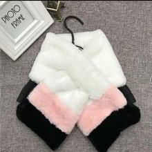 Мягкий женский Шарф детский шарф Зимний теплый мех пушистые шарфы воротник обертывание