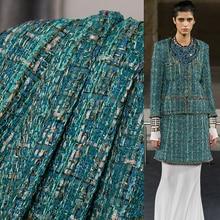 Suits Jacket Tweed-Fabrics Dress Garment-Materials The-Cloth Autumn France Dark-Green