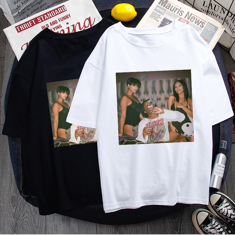 Playboi Carti Harajuku Aesthetic T Shirt Men Funny Cartoon Hip Hop T-shirt Cool Vintage Graphic Tshirt Streetwear Top Tees Male