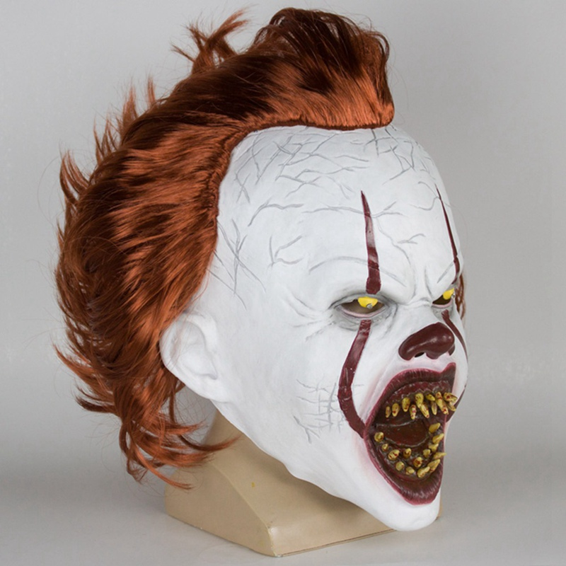 Joker Pennywise Mask Horror Cosplay Latex Masks Helmet Clown Halloween Party Costume Prop