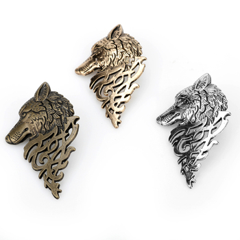 1 pc Hot Vintage Men Punk Cool Wolf Badge Pin Brooch Lapel Pins Shirt Suit Collar Jewelry For Women Men Charm Wear Gift image