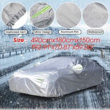 490cm x 180cm x 150cm Universal 2 Layers Full Car Cover Cotton Lined Thickened Snow Cover Waterproof Anti UV Dustproof Cover