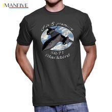 2019 Hot sale 100% cotton SR-71 Blackbird Air Supremacy Mens T-Shirt Tee shirt