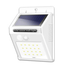 Белый Чехол 20 светодиодов солнечный светильник наружный для
