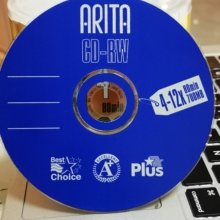 Wholesale 5 discs A+ 4-12x 700 MB Blank Blue CD RW Disc