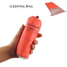 Lixada 200*72 سنتيمتر صغيرة خفيفة عرض حقيبة نوم ملفوفة للتخييم التنزه تسلق كيس النوم واحد الدفء الحقيبة