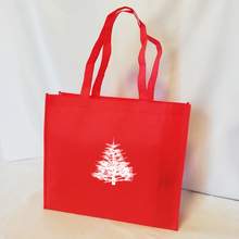 Tote Custom Your-Logo Logo-Design Promotion Wholesales Red with Shoppers for And Advertising