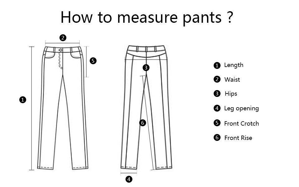 裤子测量方法