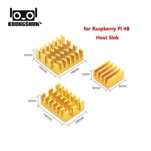 Image 3 - 2019 Nieuwste Originele Raspberry Pi 4 Model B Starter Kit Acryl Case Fan Heatsink Hdmi + Voeding Lader Voor RPI4