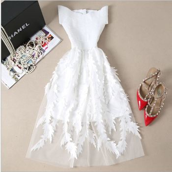 Fannic  Women Lace Bandage Patchwork Stretch Elegant Dress Vintage Floral Fit&Flare Dresses Gown Formal Party Dresses Vestido цена 2017