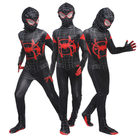 Parallel Universe Black Spider For boy Miles Morales Zentai Child Kids Marvel Superhero Party Costume Carnival Halloween Cosplay