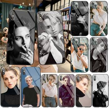 YJZFDYRM Kristen Stewart smoking MV TPU Phone Case Cover Tempered Glass For iPhone 11 Pro XR XS MAX 8 X 7 6S 6 Plus SE 2020 case