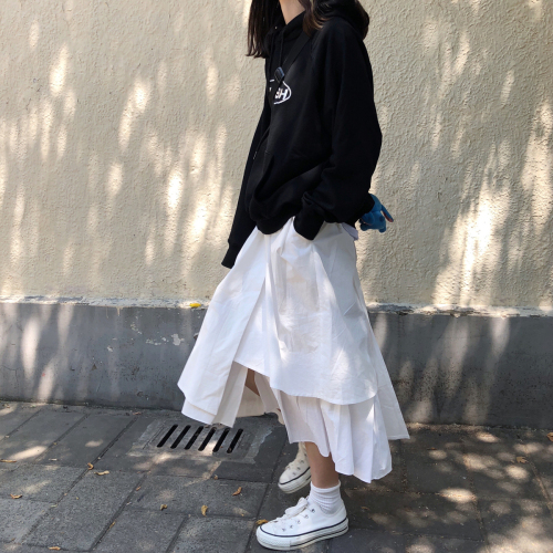 Irregular Solid College Wind Preppy Style Simple Classic All Match 2020 Summer Casual Street Basic Female Women Skirts
