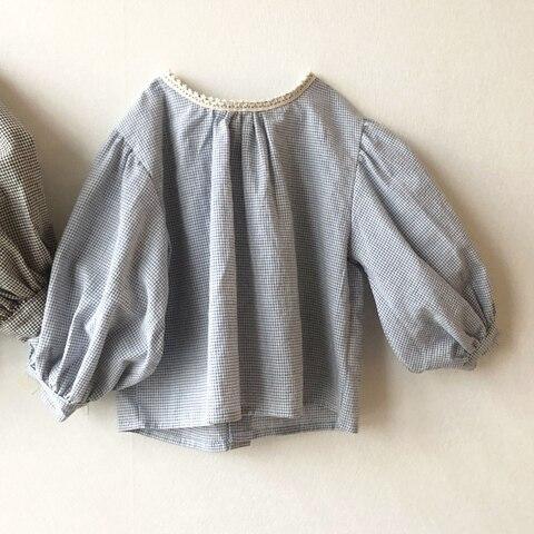 milancel meninas blusa puff manga meninas camisa