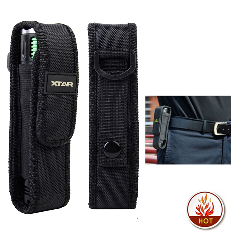XTAR T220 Flashlight Pouch LED Torch Holster Case Outdoor Camping Hiking Molle Led lenser Flashlight Pouch for Fenix XTAR TZ20$